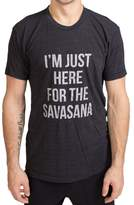 "Inner Fire ""I'm Just Here for the Savasana"" Unisex Men's T-Shirt, Extra-Large"