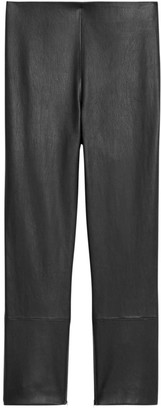Theory Leather Skinny Capri Pants