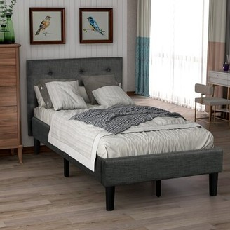 Latitude Run Benehaley Tufted Low Profile Platform Bed Size: Twin