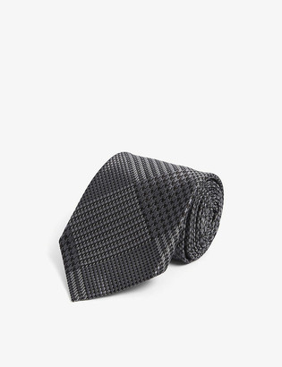 Tom Ford Checked textured woven silk tie
