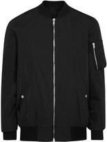Rick Owens Black Shell Bomber Jacket