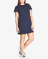 City Chic Trendy Plus Size Striped T-Shirt Dress