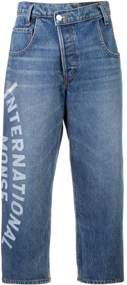 Monse International print jeans