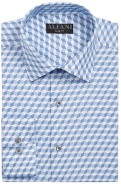 Alfani Men's Classic/Regular-Fit Geo-Print Dress Shirt, Created for Macy's