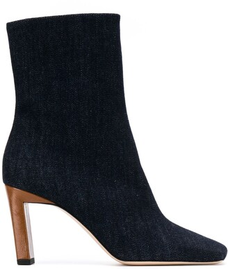 Wandler Isa denim ankle boots
