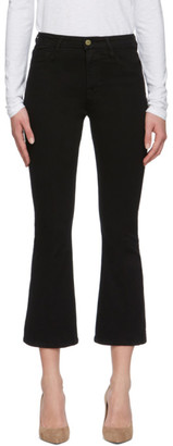Frame Black Le Crop Mini Boot Jeans