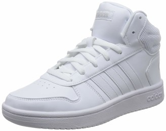 adidas Hoops 2.0 Mid Women's Basketball Shoes White (Ftwr White/Ftwr White/Ftwr White Ftwr White/Ftwr White/Ftwr White) 8 UK (42 EU)