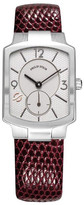 Philip Stein Teslar Women's Classic Square Dial Genuine Lizard Leather Watch