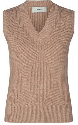 Minimum - Knit Vest Julsio Sleeveless Jumper - tobacco brown / XS
