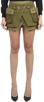 Balmain Khaki Skirt