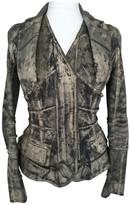 Christian Dior Grey Cotton Jacket for Women Vintage