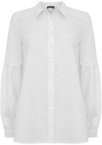 Mint Velvet Tie Back Cotton Shirt, Ivory