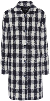 A.P.C. PoupAe checked wool-blend coat