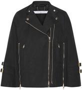 Givenchy Washed Cotton-blend Canvas Cape - Black