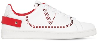Valentino BACKNET LOW TOP LEATHER SNEAKERS