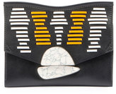 Proenza Schouler Small Curl Clutch Bag, Black/White