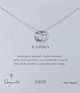 Dogeared Triple Karma Delicate Ring Necklace