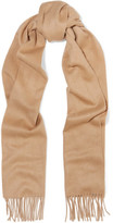 Johnstons of Elgin Fringed Cashmere Scarf - Camel