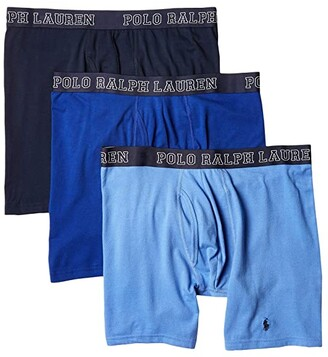 Polo Ralph Lauren 4D-Flex Breathable Mesh Boxer Brief 3-Pack (Cruise Navy/Rugby Royal/Bermuda Blue) Men's Underwear