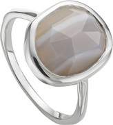 Monica Vinader Siren sterling silver and grey agate medium stacking ring
