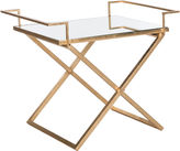 Safavieh Melody Side Table, Gold/Mirror