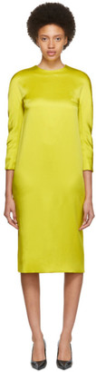 Haider Ackermann Yellow Kuiper Three-Quarter Sleeve Dress