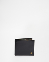 Leather Billfold Coin Wallet With Camo Print