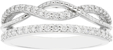Boston Bay Diamonds 3/8 CT TW Diamond 14K White Gold Split Infinity Stackable Ring