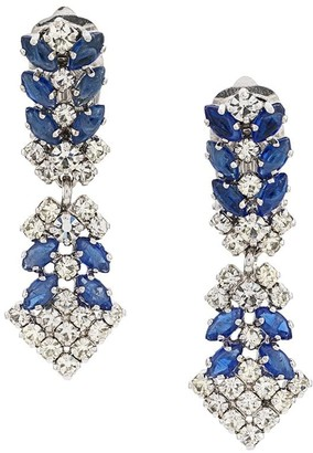Christian Dior X Susan Caplan 1990's Archive Chandelier Clip-On Earrings