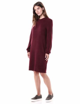 Daily Ritual Mid-gauge Stretch Crewneck Sweater Dress Dusty Rose Medium