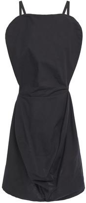 MM6 MAISON MARGIELA Draped Cotton-poplin Mini Dress