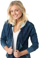 Denzien From Levis Juniors' DENZIEN from Levi's Cropped Hoodie Jean Jacket