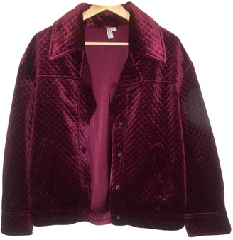 And other stories & Stories Pink Velvet Coat for Women
