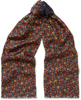 Paul Smith - Fringed Double-faced Printed Silk And Wool-blend Scarf