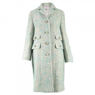 Aquascutum London Turquoise Wool Coat for Women Vintage