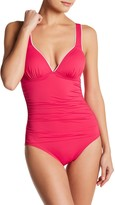 Tommy Bahama Deck V-Neck One-Piece Swimsuit