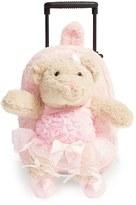 Infant Girl's Popatu 'Trolley - Ballet Bear' Rolling Backpack - Pink