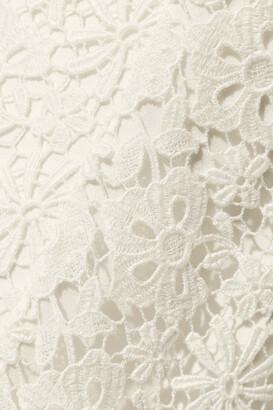 Roland Mouret Strapless Cotton Guipure Lace Bridal Gown