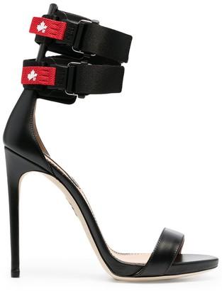 DSQUARED2 Logo-Strap Stiletto Sandals