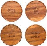 Kate Spade All in Good Taste Wood Coasters - Brown - 4 pc