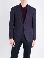 Canali Woven regular-fit wool jacket