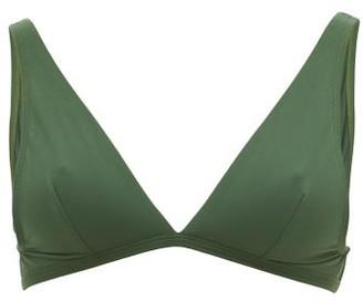 Casa Raki - Flo Plunge-neckline Bikini Top - Womens - Green