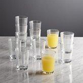 Crate & Barrel Set of 12 Rings Juice Glasses