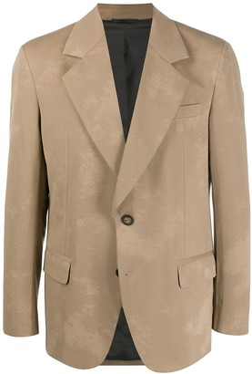 Acne Studios Washed-Out Effect Single-Breasted Blazer