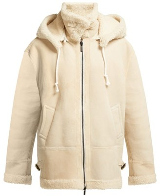 Raey Aviator Shearling Jacket - Womens - Ivory