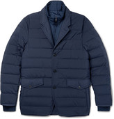 Dunhill Convertible Quilted Shell Down Jacket - Navy