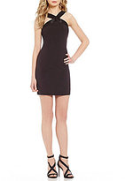 Laundry by Shelli Segal Beaded X-Front Sheath Dress