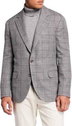 Brunello Cucinelli Men's Windowpane Sport Jacket