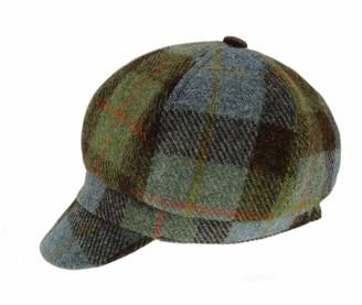 Highland Tweed Ladies Authentic Harris Tweed Bakerboy One Size Cap - Made in UK (COL 68)