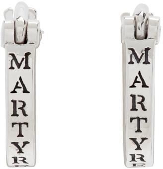 Martyre Silver Small Huggies Hoop Earrings